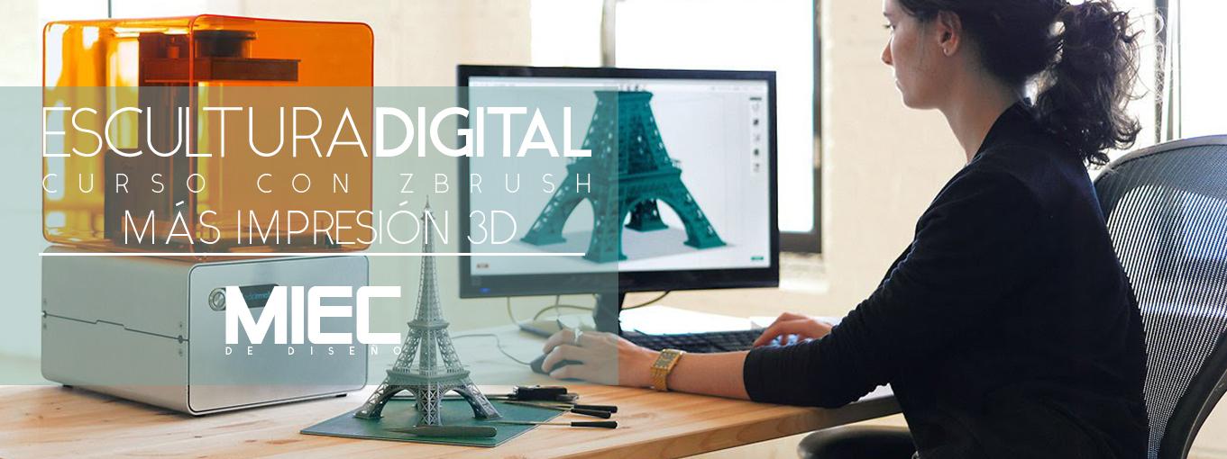 Curso ZBrush, modelado 3D, impresión 3D, modelado, programa en 3d, figura 3D, pintura 3d, textura, quito